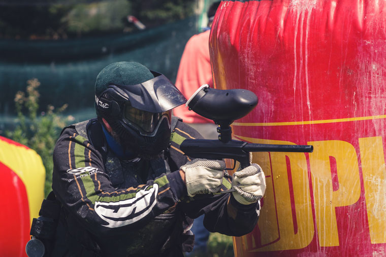 Für Action beim JGA: Paintball