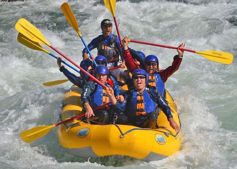 Schlauchboot-Tour mit Adrenalinfaktor
