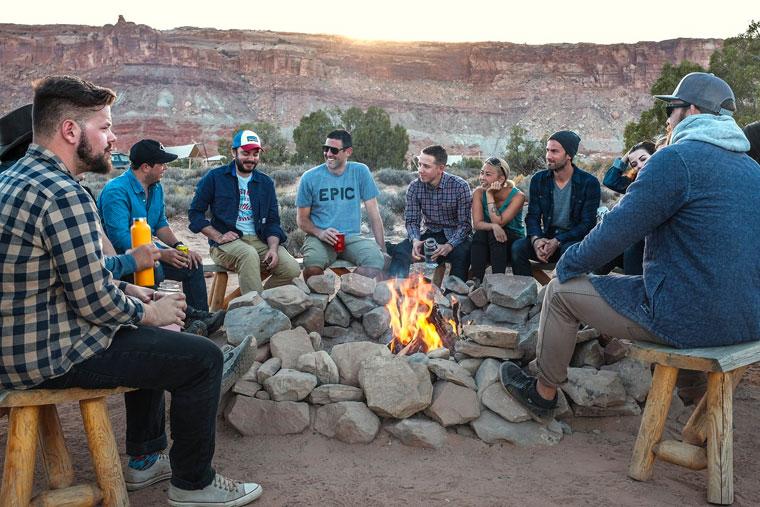 Wildnis-Camping beim JGA